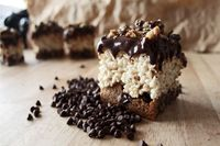 The *ultimate* chocolate chip cookie rice krispie treats
