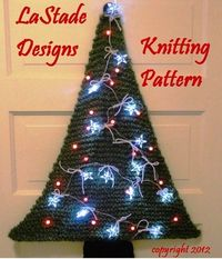 A tree for every taste! Lighted Christmas Tree Door Decoration Knitting Pattern