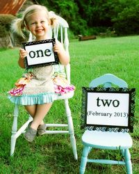 Cute baby announcement idea! Will need these soon I hope!