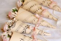 musical. Cones to hold sweets.
