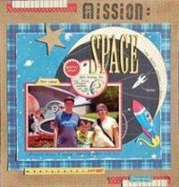 Mission: Space - A Project by Madeline from our Scrapbooking Gallery originally submitted 01/15/12 at 03:29 PM