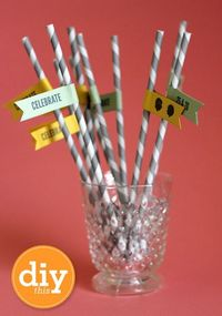 DIY Paper Straw Flags