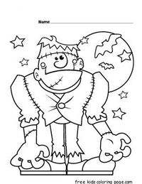 Coloring page fargelegge tegninger frankenstein for Frankenstein coloring pages to print