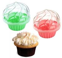 How do I not already own this?! Single cupcake carriers to pack cupcakes in your lunch. Nom.