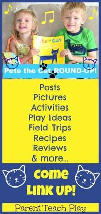 Pete the Cat -- review, round-up, and linky! Come link up your posts, pictures, activities, etc. that go-along with Pete the Cat. The goal is to make this a comprehensive resource for parents, teachers, and homeschoolers!!