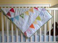 a pretty cool life.: Rainbow Bunting Baby Quilt Tutorial
