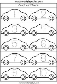 Printables Worksheet Fun worksheetfun com juxtapost cars number tracing