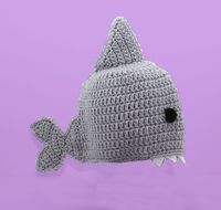 Shark Hat Gray Crochet Beanie - Baby Adult | eBay