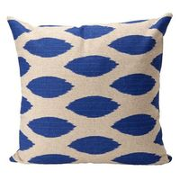 Ikat Peacock Blue Throw Pillow