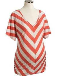 orange chevron stripe