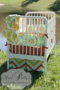 Love this bright baby bedding