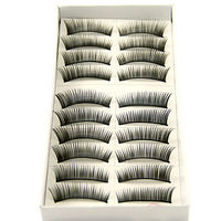 10 Pairs Per Box - Long, Curved Fashion Lashes With Added Volume 1088#
