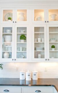 Kitchen cabinets (glass)