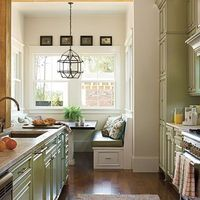 Sage green cabinets