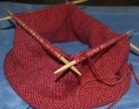 How to Change From a Circular Knitting Needle to a Double Point.