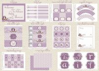 DIY printable baby shower party package vintage by BluGrass, $30.00