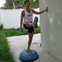 16 balance exercises using a BOSU Ball that work mainly the legs, butt, and core. These exercises are FANTASTIC to help build stability and strength for beginners or the advanced.