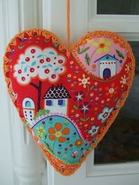 crochet trimmed heart