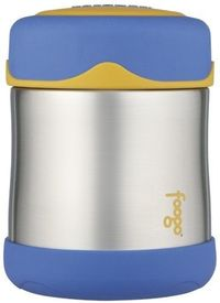 Thermos Foogo Leak-Proof Stainless Steel 10-Ounce Food Jar Blue