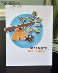 Such a happy, encouraging card by Jaclyn Miller. Made with the Birds & Bees stamp set. http://www.techniquetuesday.com/Nature/Birds.html