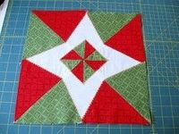 Christmas Star Quilt Block tutorial by Melissa Corry from Happy Quilting. This spider web block variation will give extra character to your Christmas quilt patterns.