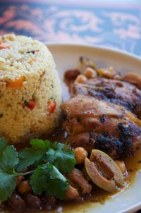 Moroccan Chicken Stew with Vegetable Couscous