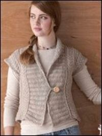 Free knitted vest patterns for women #2